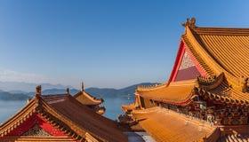 Templo de Wenwu en el lago moon de Sun, Taiwán Foto de archivo