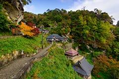 Templo de Yamadera em Japão imagens de stock royalty free