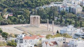 Templo de Zeus, Atenas fotografia de stock