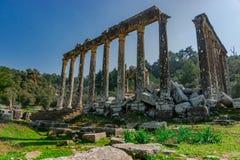 Templo de Zeus Lepsinos r fotografia de stock royalty free