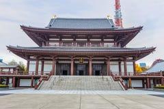 Templo de Zojoji en Tokio imagenes de archivo