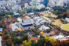 Templo de Zojoji en Tokio fotografía de archivo libre de regalías