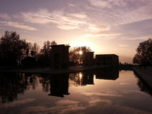 Templo debod. A gift from Egypt Royalty Free Stock Images
