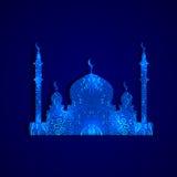 templo del árabe de la silueta Imagenes de archivo