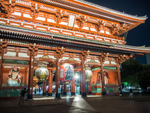 Templo del 寺 del ‰ del  del è del æµ de Sensoji…, Tokio, Japón Hozomon imagenes de archivo