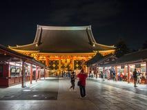 Templo del 寺 del ‰ del  del è del æµ de Sensoji…, Tokio, Japón Pasillo principal imágenes de archivo libres de regalías