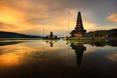 Templo del agua de Bali Pura Ulun Danu Bratan Imágenes de archivo libres de regalías