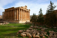 Templo del Bacchus Foto de archivo libre de regalías