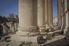Templo del Bacchus, Baalbek Líbano Imagenes de archivo