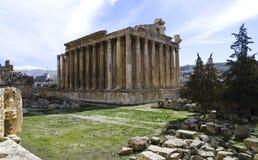 Templo del Bacchus en Baalbek, Líbano Imagen de archivo libre de regalías