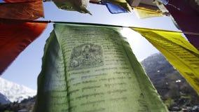 Templo del budismo en el pueblo de Kalpa almacen de video