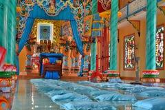 Templo del Cao dai Cai Be Vietnam Foto de archivo libre de regalías