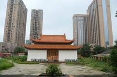 Templo del centro de ciudad Imagen de archivo libre de regalías