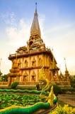 Templo del chalong de la pagoda imagen de archivo
