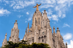 Templo del corazón sagrado de Jesus Expiatori del Sagrat Cor en la montaña de Tibidabo en Barcelona, Cataluña, España Fotos de archivo