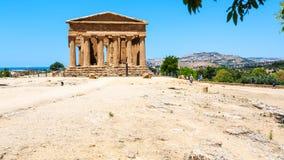 Templo del della Concordia de Tempio de la paz en Sicilia Fotografía de archivo libre de regalías