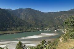 Templo del devi de Dhari Uttarakhand, la India foto de archivo libre de regalías