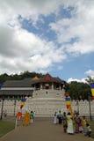 Templo del diente en Kandy fotografía de archivo