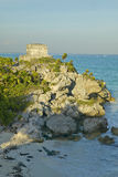 Templo Del Dios del Viento Majskie ruiny Ruinas De Tulum w Quintana Roo, półwysep jukatan, Meksyk (Tulum ruiny) Turkus Obraz Royalty Free
