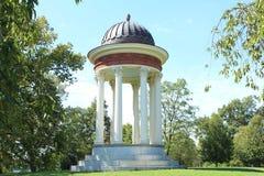 Templo del Gazebo del amor en el Mt Parque Cincinnati Ohio de la tormenta imagen de archivo