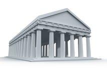 Templo del griego clásico stock de ilustración