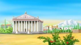Templo del griego clásico libre illustration