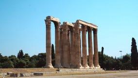 Templo del griego clásico de Zeus almacen de video