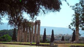 Templo del griego clásico de Zeus almacen de metraje de vídeo