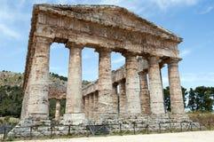 Templo del Griego de Segesta Foto de archivo libre de regalías