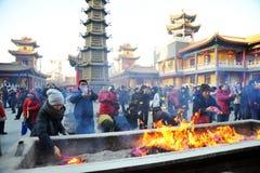 Templo del guanyin del jianfu de Tianjin fotos de archivo