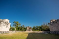 Templo del Hombre Barbado,奇琴伊察,尤加坦,墨西哥 库存照片