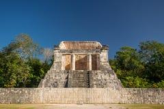 Templo del Hombre Barbado,有胡子的人的寺庙,奇琴伊察,墨西哥 库存图片