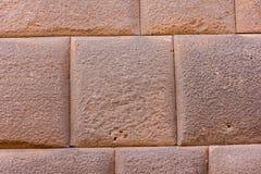 Templo del inca de la pared con las piedras cabidas perfectas Imagen de archivo libre de regalías