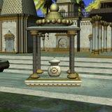 Templo del indio de la fantasía Imagenes de archivo