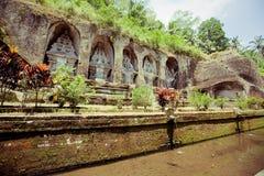 Templo del kawi de Gunung en Bali Foto de archivo libre de regalías