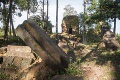 TEMPLO DEL KHMER DE CAMBOYA ANLONG VENG TRAPEANG Imágenes de archivo libres de regalías