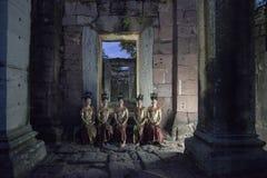 TEMPLO DEL KHMER DE TAILANDIA ISAN PHIMAI Fotos de archivo