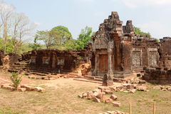 Templo del Khmer de Wat Phu en Laos Imagenes de archivo