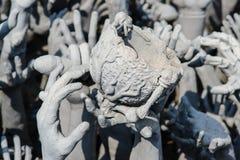 Templo del khun del rong de Wat en ChiangRai, Tailandia Imagen de archivo libre de regalías