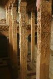 Templo del lama en apoyo de la columna de la viga Imágenes de archivo libres de regalías