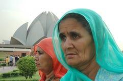 TEMPLO DEL LOTO EN NUEVO DELHI-INDIA Fotografía de archivo libre de regalías