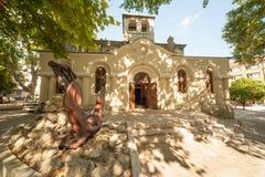 Templo del mar de San Nicolás en la Varna vieja Fotografía de archivo libre de regalías