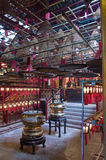Templo del MES del hombre, Hong-Kong Imagen de archivo