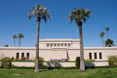 Templo del Mesa Arizona de LDS Imagen de archivo libre de regalías