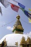 Templo del mono de Swayambunath Imagen de archivo