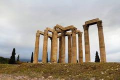 Templo del Oympian Zeus Imagenes de archivo