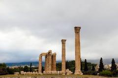 Templo del Oympian Zeus Foto de archivo