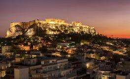 Templo del Parthenon Fotografía de archivo