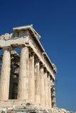 Templo del Parthenon en acrópolis Imágenes de archivo libres de regalías