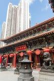 Templo del pecado de Wong Tai en Hong-Kong Fotos de archivo libres de regalías